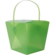 Jam Paper Jumbo Green Plastic Chinese Takeout Container 9 1/2 x 8 1/2 x 7 1/4 - Sold Individually 2962557