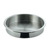 SMART Buffet Ware Medium Round Full Size Stainless Steel Food Pan