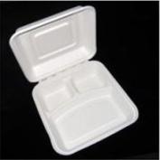 Asean Corporation BCS103 9x9x3 3 Compartment Clamshell - 200 Pcs