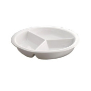 Smart Buffet Ware Large Round 1 / 3 Divided Porcelain Food Pan 1A11217
