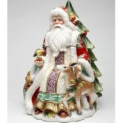 Cosmos Gifts Cosmos Victorian Harvest Santa Cookie Jar 28.6cm Tall