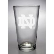 Notre Dame Fighting Irish 470ml Deep Etched Pub Pint Glass Campus Crystal X8-8