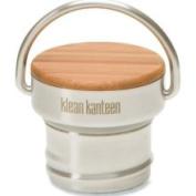 Klean Kanteen Bamboo Water Bottle Cap, Brushed Stainless