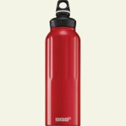 Sigg Wide Mouth Traveller Water Bottle - 1.5L Red, One Size
