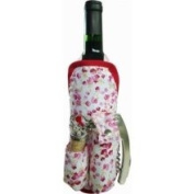 Picnic Gift 2040-LR Deluxe Wine Apron - Lil Rose