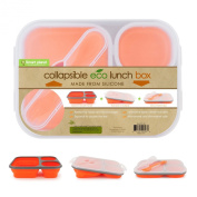 Smart Planet Ec-34 Large 3-Compartment Eco Silicone Collapsible Lun...