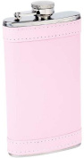 Maxam KTFLKPW6 180ml Stainless Steel Flask with Pink Wrap