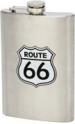 Maxam KTFLSK66 Large Hip Flask Route 66 - Stainless Steel