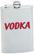 8oz Stainless Steel Flask with VODKA Graphic