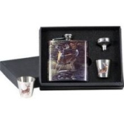 Rivers Edge 988 Deer Flask with Shot Glasses