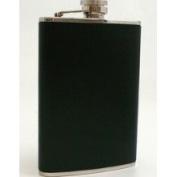 Bey-Berk Stainless Steel / Black Leather Flask 240ml, T.P. - FS118