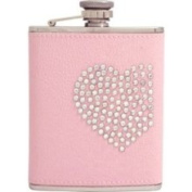 Bey Berk FS396 Glitz and Glamour Pink Leather Flask