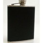 Bey-Berk Stainless Steel / Black Leather Flask 180ml, T.P. - FS116