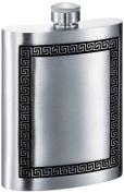 Visol VF4005 Kalos Greek Design Genuine Pewter 180ml Hip Flask