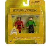 Star Trek Diamond Select Toys Series 3 Minimates Space Seed Khan & Dress Uniform Kirk