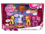 My Little Pony Playset Pony School Pals Cheerilee The Cutie Mark Crusaders Apple Bloom, Sweetie Belle, Scootaloo Cheerilee