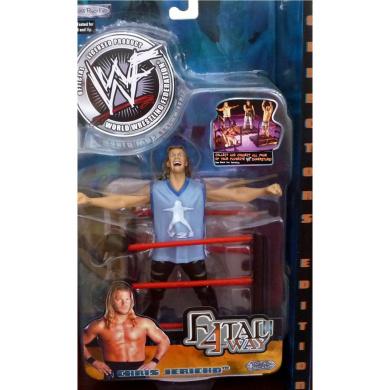 CHRIS JERICHO WWE WWF Jakks Pacific Toy Figure FATAL 4-WAY SERIES 2