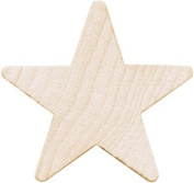 Wood Turning Shapes-Star 1.6cm x  .  cm 7/Pkg