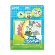 Perler Fused Bead Pattern Kit, Classic Bead Tray 'n Cards
