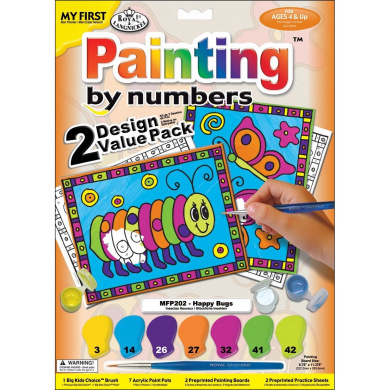 Royal & Langnickel My First Paint By Number Kit 22cm x 29cm 2/Pkg-Happy Bugs