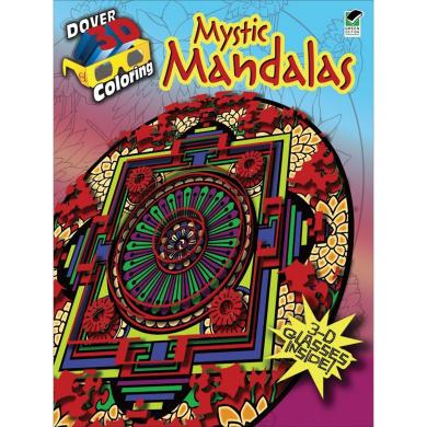 Dover Publications-Mystic Mandalas Colouring Book 3D