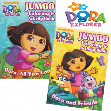 Dora The Explorer Colouring Book Set 2 Colouring Books