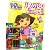 Dora the Explorer Colouring Book Set with Twist-up Crayons