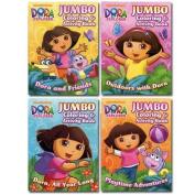 2pk Dora Jumbo Colouring & Activity Book 96 Pg - Assorted