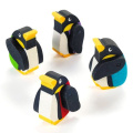 Moveable Rubber Penguin Erasers