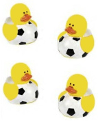 Lot Of 24 Mini Soccer Ball Rubber Ducks - Party Favours