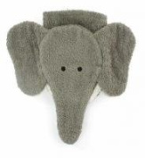 Washcloth Hand Puppet Elephant By Furnis Small