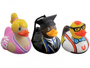 Bud Deluxe Mini Rubber Ducks College 3 Pack