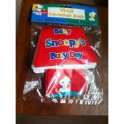 Rare! Peanuts Baby Snoopy Vinyl Squeaker Book - Baby Snoopy's Busy Day