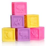 Block Party Bath Toys Set, Pastel
