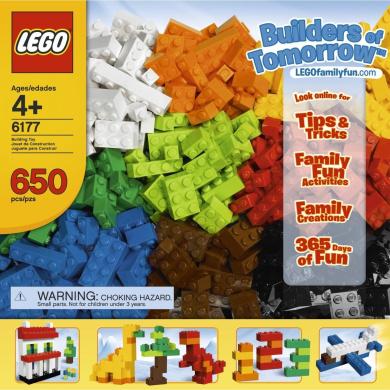 The LEGO Ideas Book [Hardcover] Plus 650 LEGO Bricks [Builders of Tomorrow Set - 6177] Bundle. Great Gift Idea!