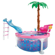 Barbie Ultimate Beach House Party! Glam Pool, BQQ, Doll and 30+ Accessories
