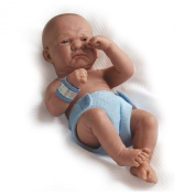 """La Newborn Boutique - Realistic 36cm Anatomically Correct Real Boy Baby Doll - All Vinyl """"First Day"""" Designed by Berenguer - Made in Spain"""