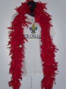 6' Red Boa with Gold Tinsel