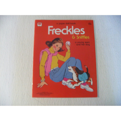 Whitman Freckles & Sniffles a Young Teen & Her Dog Paper Doll 1983-34