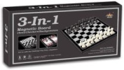 7.6cm One Magnetic Chess Checkers And Backgammon Board Large Size