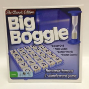 Big Boggle Game with 25 Letter Cubes and 5x5 Grid.