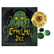 Cthulhu Dice Bone with Red Ink