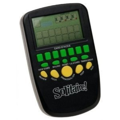 Solitaire Handheld Electronic Arcade Game with Batteries