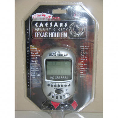 Caesars Atlantic City Texas Hold 'Em Electronic Handheld Game