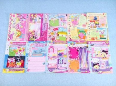 Tamagotchi Tamamori Collection Sticker book Set