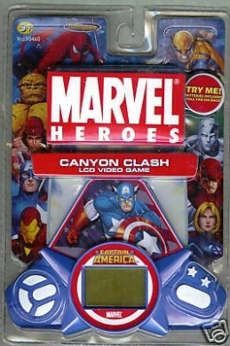 Marvel Heroes Captain America Canyon Clash LCD Video Game