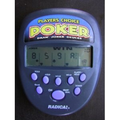 Electronic Handheld PLAYER'S CHOICE POKER GAME (Draw, Joker or Deuces) by Radica