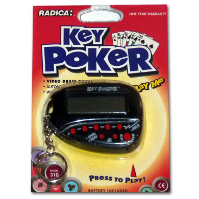 Key Poker, Electronic Hand Held Game By Radica: Model 310