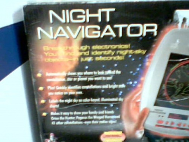 Excalibur Electronics Excalibur Night Navigator Model# 761-P2 (Silver/Grey Colour Version) (Finds Visible Planets and or 43 Constellations) (Digital Compass Build In)