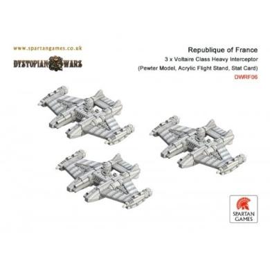 Dystopian Wars: Republique of France - Voltaire Class Heavy Interceptor (3)